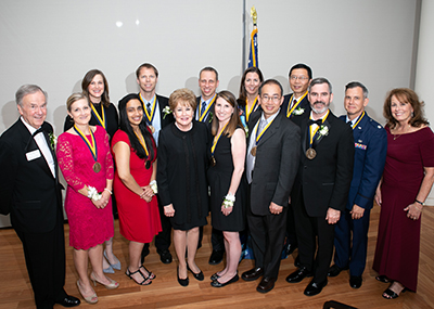 The 2018 Arthur S. Flemming Award winners stand together with Peter Williams and Kathy Newcomer and Senator Elizabeth Dole
